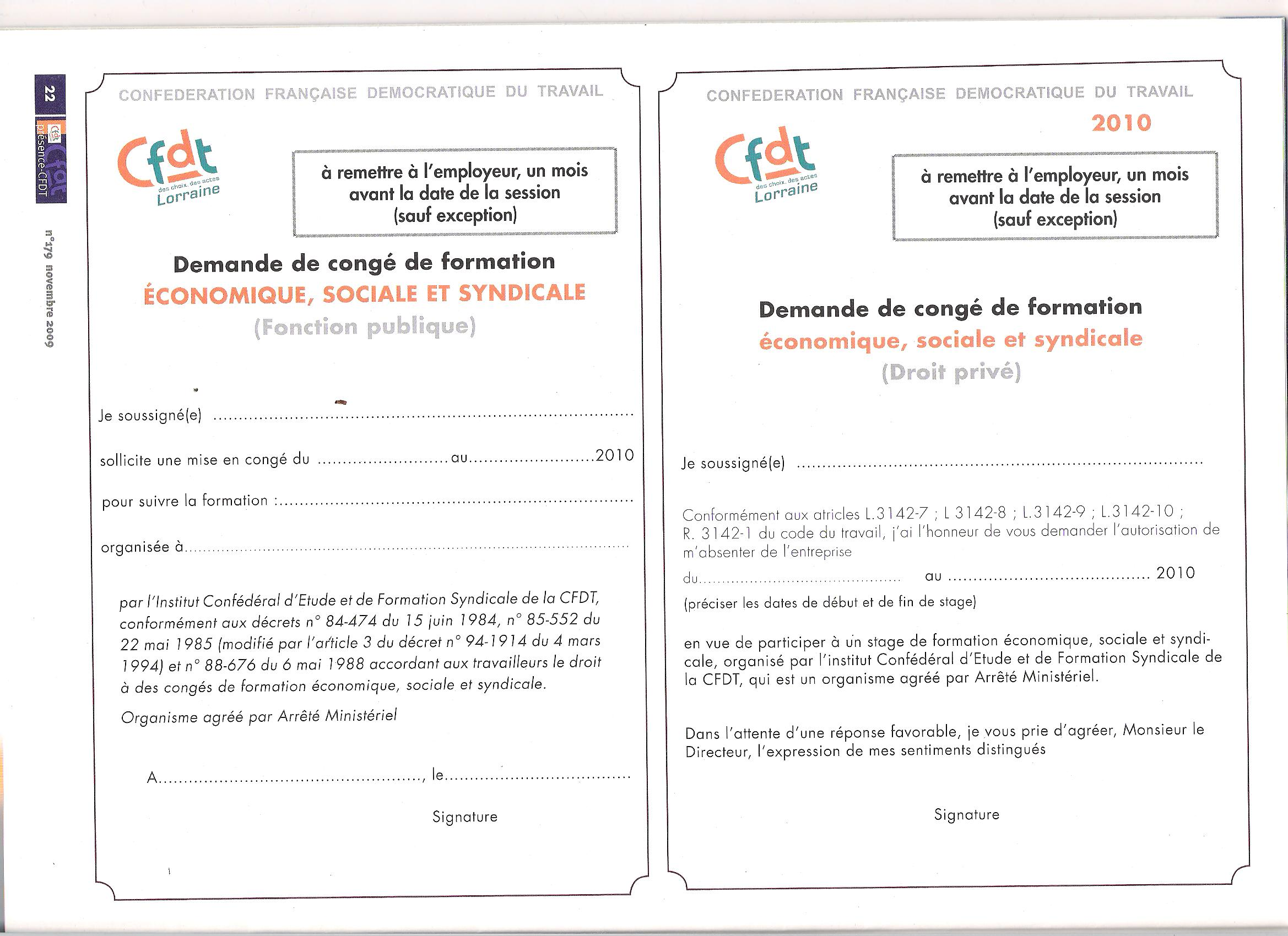 Fiches Inscription Formation Syndicale Cfdt Sante Sociaux Aeim